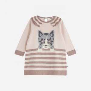 Darling Knitted Cat Dress Pink
