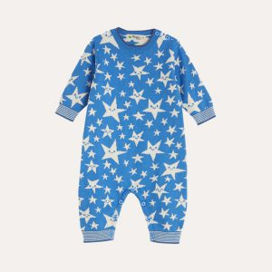 Liberty Star Knitted Playsuit Blue
