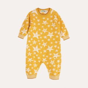 Liberty Star Knitted Playsuit Ochre