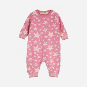 Liberty Star Knitted Playsuit Pink