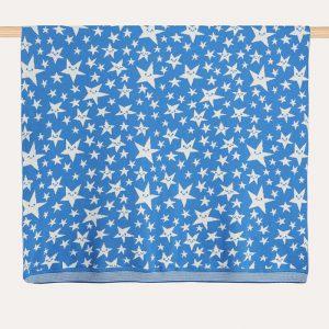 Legend Star Knitted Shawl Blue