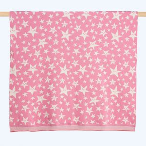 Legend Star Knitted Shawl Pink