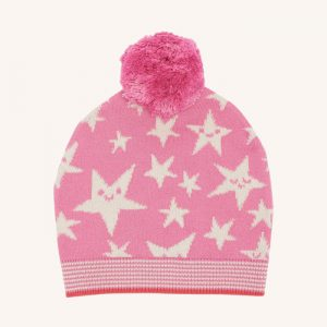 Liz Star Knitted Hat Pink
