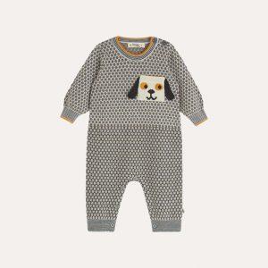 Marlon Knitted Birdseye Playsuit Grey