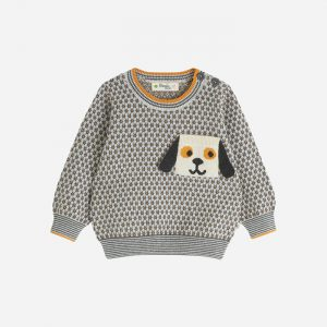 Paris Knitted Birdseye Sweater Grey