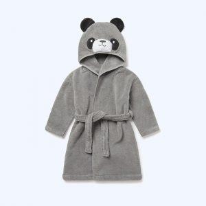 Panda Bath Robe Grey