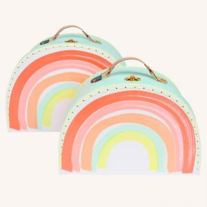 Rainbow Stacking Suitcases