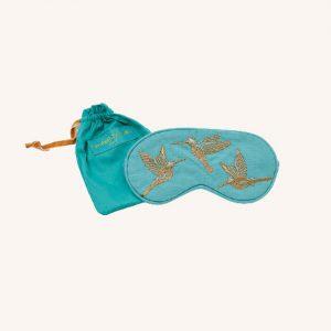 Hummingbird Eye Mask Turquoise