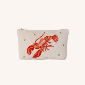 Lobster Everyday Travel Pouch Cream