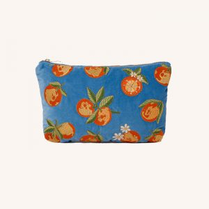 Oranges Everyday Travel Pouch Blue