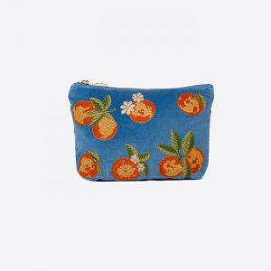 Oranges Make Up Bag Blue