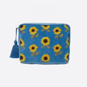 Sunflower Wash Bag Blue