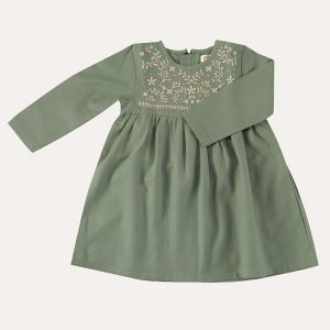 Embroidered Dress Green