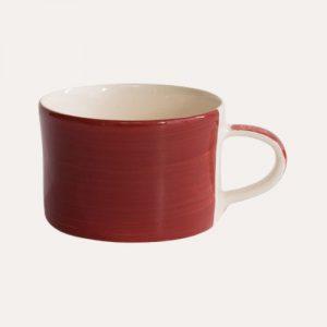 Handmade Mug Paprika Plain Wash