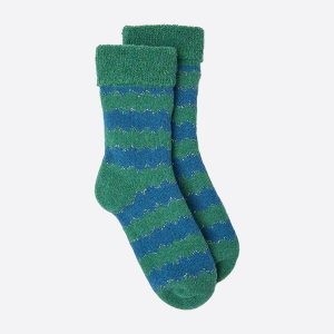 ZigZag Slipper Socks Green