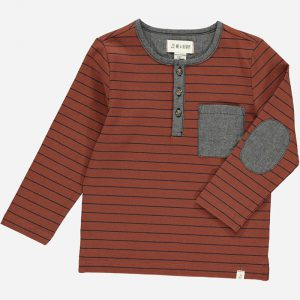 Linden Henley Top Chocolate/Black Stripe