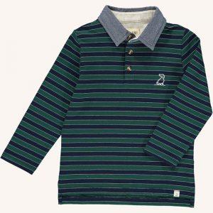 Waverley Polo Top Green/Navy Stripe