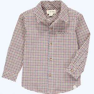 Atwood Woven Shirt Brown/Beige Plaid