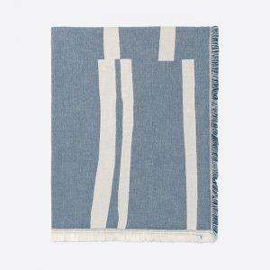 Lyme Grass Organic Cotton Throw Blue
