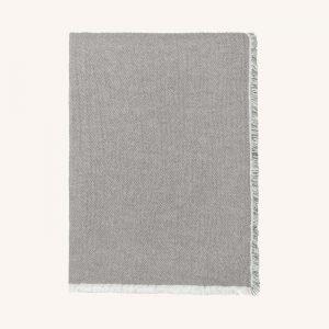 Thyme Organic Cotton Throw Grey