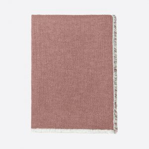 Thyme Organic Cotton Throw Rusty Red
