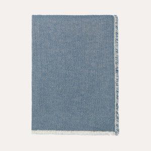 Thyme Organic Cotton Throw Blue