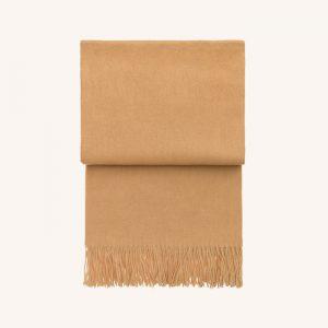 Classic Alpaca/Wool Throw Yellow Ochre