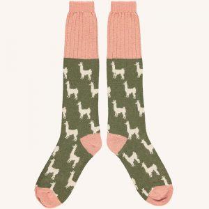 Lambswool Llamas Knee Socks