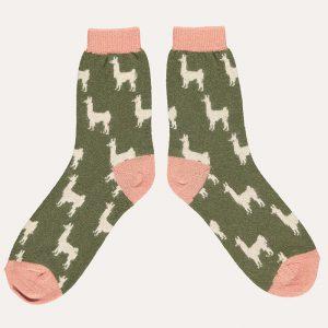 Lambswool Llama Ankle Socks